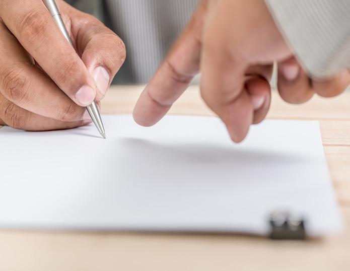 Unterschrift Vertrag Obligator